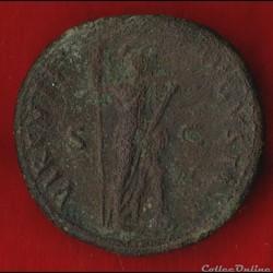 monnaie antique romaine domitien as la virilite