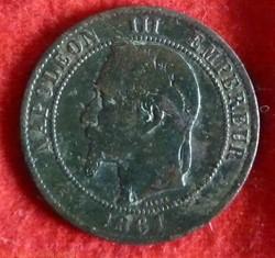 Napoléon III - 10 Centimes - 1861 - Bord...