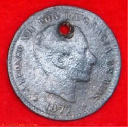 Espagne - 5 Centimos - 1877