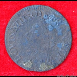 Louis XIII - Double Tournois - 1642 -