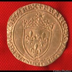 Francois Ier - Ecu d'or - 1515 - Rouen