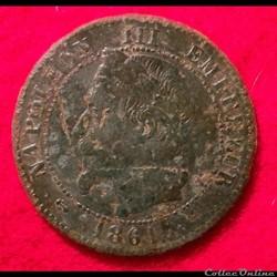 Napoléon III - 2 Centimes - 1861 - Borde...
