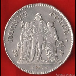 Consulat / Directoire - 5 Francs - AN 8 ...
