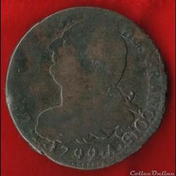 Louis XVI - 2 Sols - 1792 - Paris