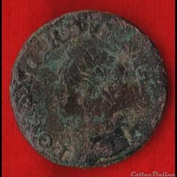 Louis XIII - Double Tournois - 1643 -