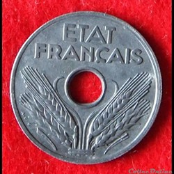 État Français - 20 Centimes - 1943
