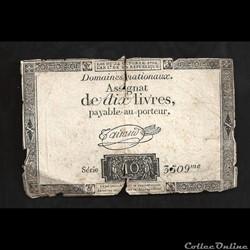assignat de 10 livres   24 octobre 1792