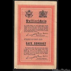 """sauf-conduit des soldats allemands """"SAFE..."""