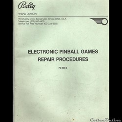 manuel flipper BALLY electronic pinball ...