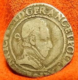 HENRI III Quart de franc au col plat