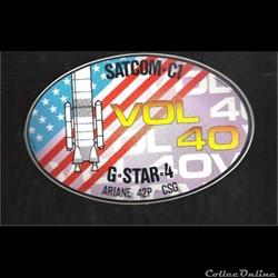 ARIANE 42P     VOL N°40  satellite  SATC...