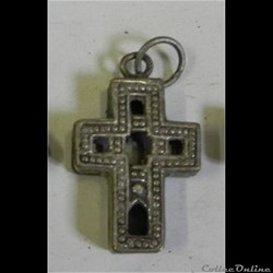 croix reliquaire  argent