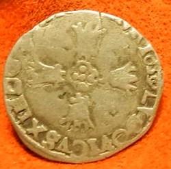 Louis  XIII 1/8 d'écu à la croix fleuron...