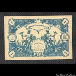 1 franc BESANCON  union commerciale  février 1939