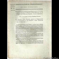 texte de loi de l'an dix de la République  sur les faux
