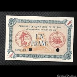 1 franc Belfort chambre de commerce