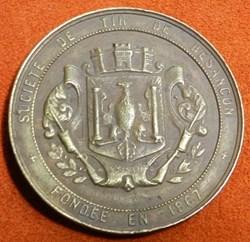 médaille société de tir de Besançon  186...
