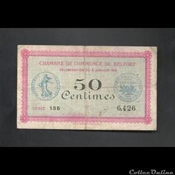 50 centimes Belfort chambre de commerce