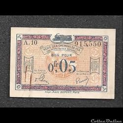 0.05 franc régie des chemins de fer