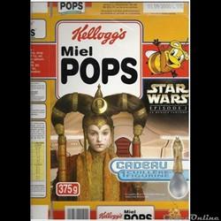 star wars box kellogg's   miel pops