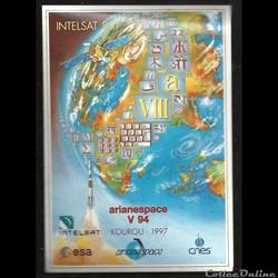 AUTOCOLLANT   ARIANE 1997  KOUROU  VOL N...