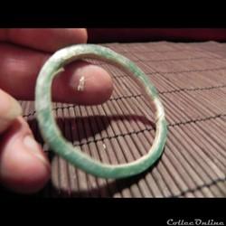 bracelet verre  vert