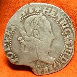 Henri  III  au col plat 1578 Tours  E