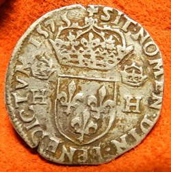 Henri   III teston au col plat 1575 9 Re...