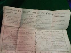 800 francs : emprunt forcé de L'AN IV  c...