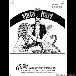 manuel flipper MATA HARI BALLY (original...