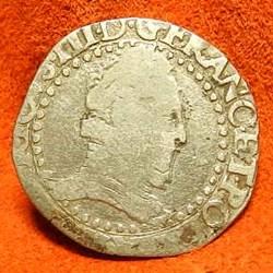 Henri III 1/2 franc  au col plat