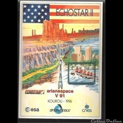 AUTOCOLLANT   ARIANE  KOUROU 1996  VOL N...