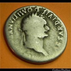 TITUS       Domitien césar  denier