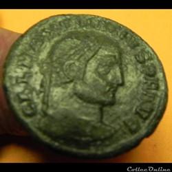 monnaie antique romaine galere maximien pieux sm sd virtvti e x ercitvs