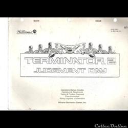 manuel flipper WILLIAMS TERMINATEUR 2 ( ...