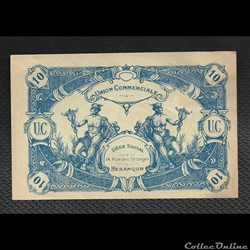 10 francs BESANCON  union commerciale  m...