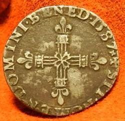 Henri III 1/4 écu     1587 G