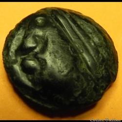 monnaie antique av jc ap gauloise potin au bandeau a cheval a droite serie 854 dt