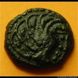 monnaie antique gauloise bronze senones a oiseau