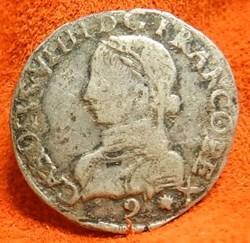 Charles IX   1560  demi teston Rennes   ...