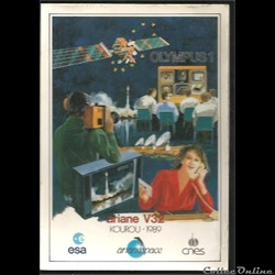 ARIANE 1989  KOUROU    VOL N°32  satelli...