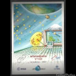 ARIANESPACE  KOUROU  VOL N° 103 satellit...