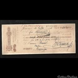 mandat à ordre 21,40  francs   1911
