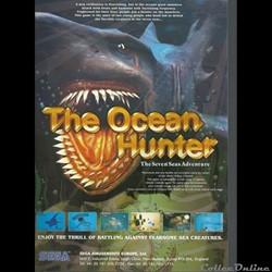 flyer sega the ocean hunter (jeu d'arcad...
