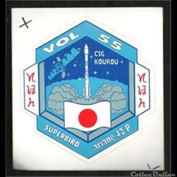 ARIANE 42P     VOL N°55  satellite  SATC...