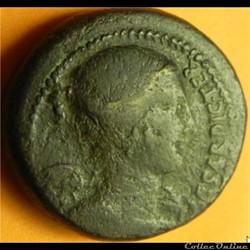 monnaie antique romaine jules cesar dupondius