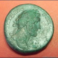monnaie antique sesterce antonin le pieux romaine