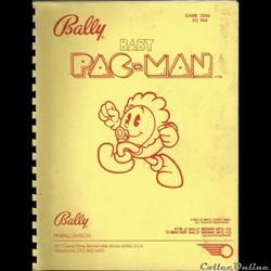 manuel flipper pinball PAC MAN BALLY 198...