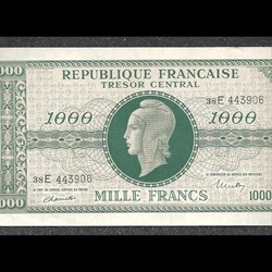trésor central 1000  francs