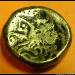 monnaie antique av jc ap gauloise serie 875 dt 3181 statere au triskele type de chenoves eduens